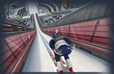 Screenshots of the Ski Jumping Pro game for iPhone, iPad or iPod.