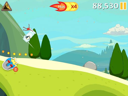 Capturas de pantalla del juego Ski safari: Adventure time para iPhone, iPad o iPod.