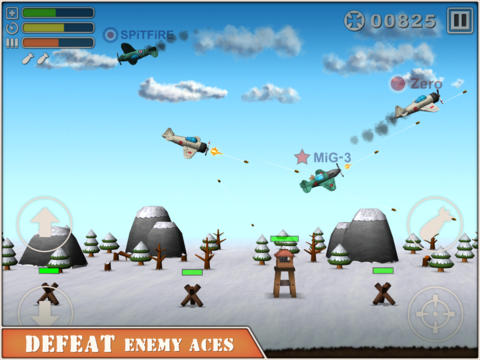 Screenshots of the Sky Aces 2 game for iPhone, iPad or iPod.