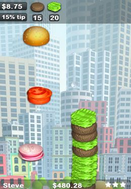 Download Sky Burger iPhone free game.