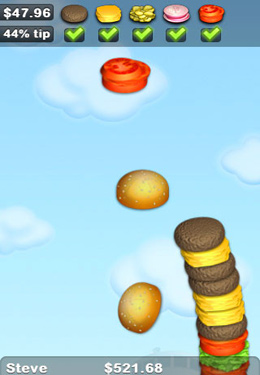 Screenshots do jogo Sky Burger para iPhone, iPad ou iPod.