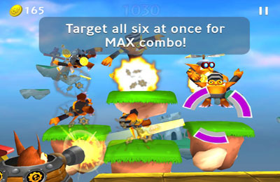 Screenshots do jogo Skylanders Cloud Patrol para iPhone, iPad ou iPod.