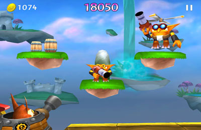 Capturas de pantalla del juego Skylanders Cloud Patrol para iPhone, iPad o iPod.