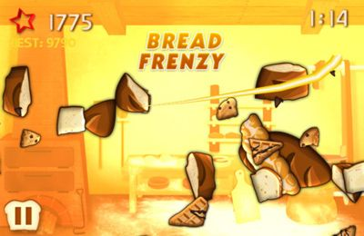 Screenshots of the Sliced Bread game for iPhone, iPad or iPod.