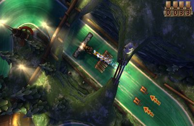 Capturas de pantalla del juego Slingshot Racing para iPhone, iPad o iPod.