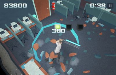 Screenshots vom Spiel Smash the Office für iPhone, iPad oder iPod.