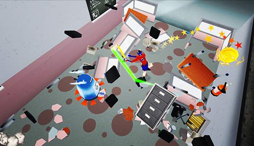 Screenshots vom Spiel Super smash the office: Endless destruction für iPhone, iPad oder iPod.
