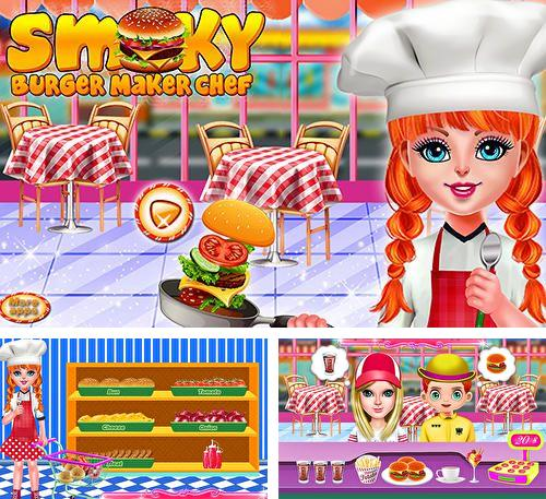Smoky burger maker chef