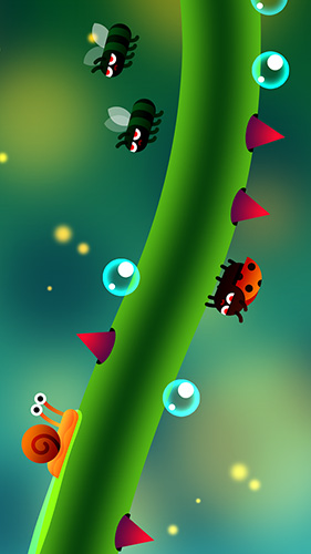 Capturas de pantalla del juego Snail ride para iPhone, iPad o iPod.