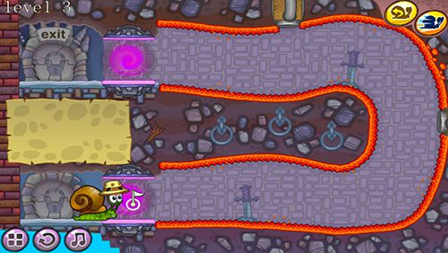 Screenshots of the Snail wander game for iPhone, iPad or iPod.
