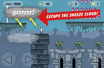 iPhone、iPad および iPod 用のSneezeman:Escape From Planet Sneezeの無料ダウンロード。