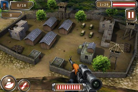 Screenshots of the Sniper 2 game for iPhone, iPad or iPod.