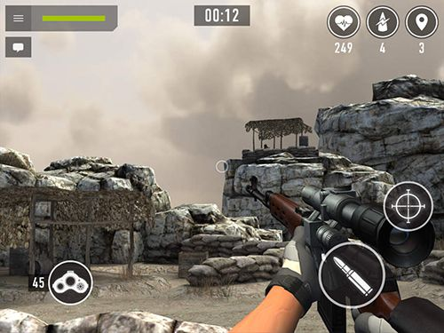 Screenshots of the Sniper аrena game for iPhone, iPad or iPod.