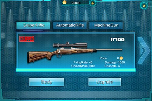 Capturas de pantalla del juego Sniper: The walking dead para iPhone, iPad o iPod.