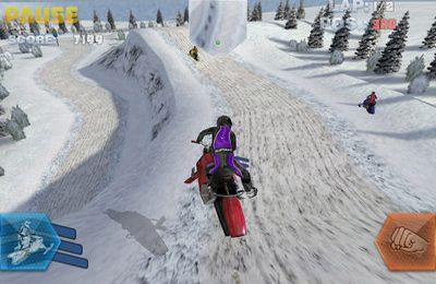 Download Snow Bike Racing iPhone free game.