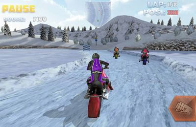 Screenshots vom Spiel Snow Bike Racing für iPhone, iPad oder iPod.
