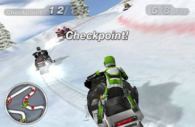 Écrans du jeu Snow Moto Racing pour iPhone, iPad ou iPod.