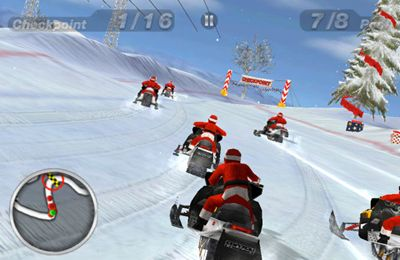 Геймплей Snow Moto Racing для Айпад.