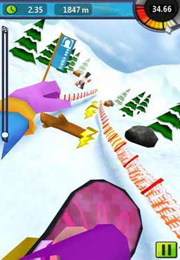 Download Snow Racer Friends iPhone free game.