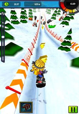 Screenshots vom Spiel Snow Racer Friends für iPhone, iPad oder iPod.