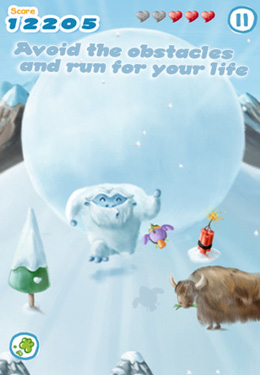 Free Snowball Run download for iPhone, iPad and iPod.