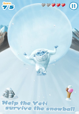 Screenshots of the Snowball Run game for iPhone, iPad or iPod.