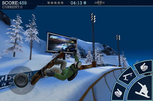 Screenshots of the Snowboard party game for iPhone, iPad or iPod.