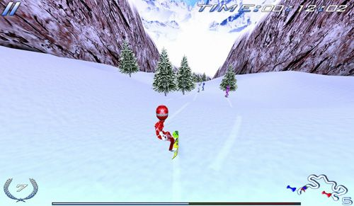 iPhone、iPad または iPod 用Snowboard racing: Ultimateゲームのスクリーンショット。
