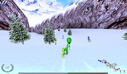 Écrans du jeu Snowboard racing: Ultimate pour iPhone, iPad ou iPod.