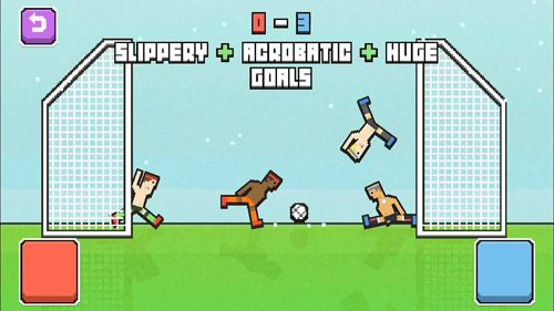 Screenshots of the Soccer physics game for iPhone, iPad or iPod.