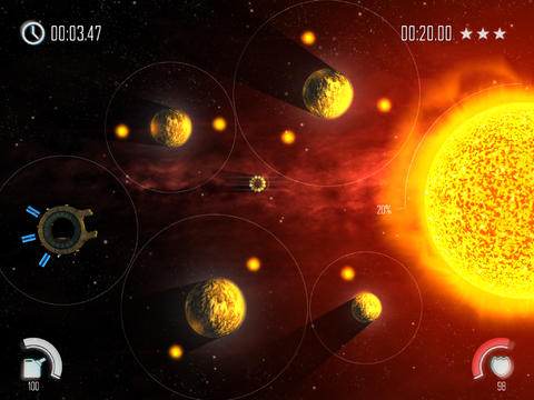 Screenshots of the Solar Flux Pocket game for iPhone, iPad or iPod.