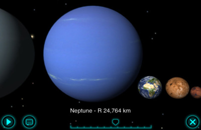 Screenshots vom Spiel Solar Walk – 3D Solar System model für iPhone, iPad oder iPod.