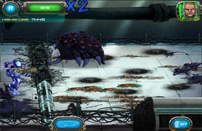 Capturas de pantalla del juego Soldier vs. Aliens para iPhone, iPad o iPod.