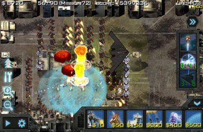 Capturas de pantalla del juego Soldiers of Glory: Modern War TD para iPhone, iPad o iPod.