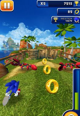 Descarga gratuita de Sonic Dash para iPhone, iPad y iPod.