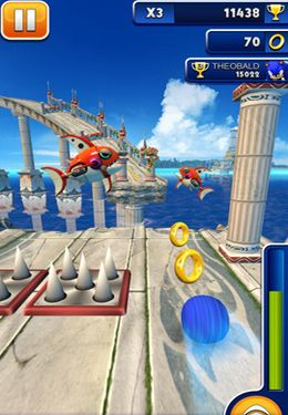 Capturas de pantalla del juego Sonic Dash para iPhone, iPad o iPod.