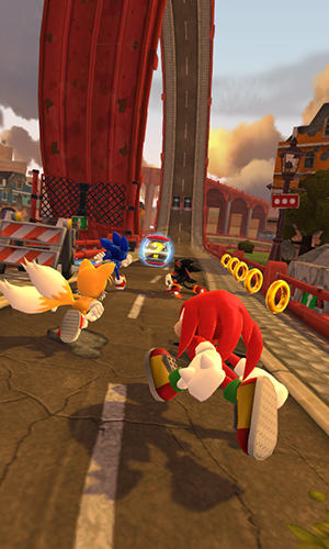 Screenshots vom Spiel Sonic forces: Speed battle für iPhone, iPad oder iPod.