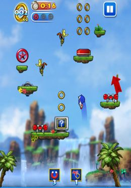Download Sonic Jump iPhone free game.