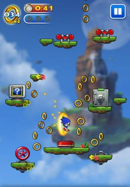 Screenshots of the Sonic Jump game for iPhone, iPad or iPod.