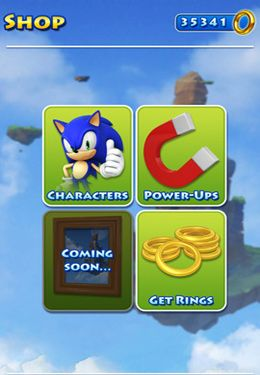 Screenshots do jogo Sonic Jump para iPhone, iPad ou iPod.
