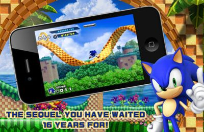 iPhone、iPad または iPod 用Sonic The Hedgehog 4 Episode Iゲームのスクリーンショット。