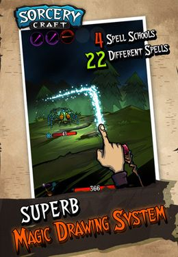 Screenshots of the Sorcery Craft game for iPhone, iPad or iPod.