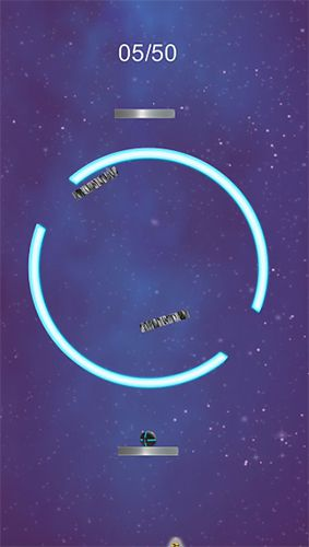 Screenshots of the Space breakout game for iPhone, iPad or iPod.