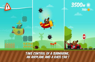 Screenshots of the Space Dog Run game for iPhone, iPad or iPod.