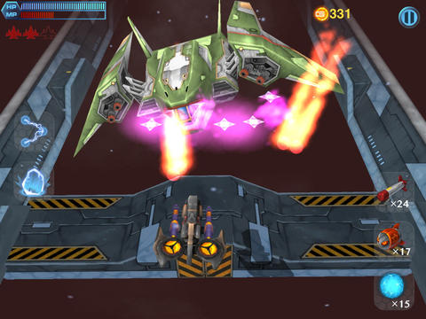 Screenshots vom Spiel Space pursuit für iPhone, iPad oder iPod.