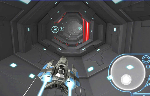 Screenshots vom Spiel Space race: Endless racing flying für iPhone, iPad oder iPod.