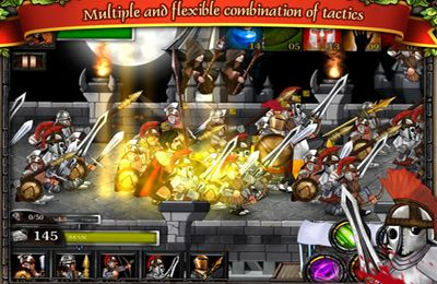 Écrans du jeu Spartans vs Zombies Defense pour iPhone, iPad ou iPod.