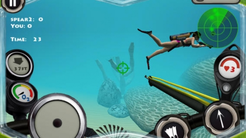 Screenshots of the Spearfishing 2 Pro game for iPhone, iPad or iPod.
