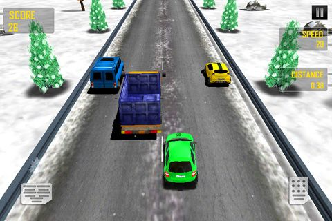 Capturas de pantalla del juego Speed race para iPhone, iPad o iPod.