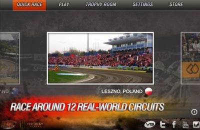 Screenshots of the Speedway GP 2012 game for iPhone, iPad or iPod.